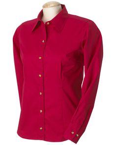 Long Sleeve Twill Shirt | Buy discount devon & jones ladies performance long sleeve twill at Gotapparel.com