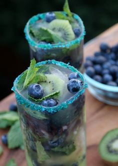 Kiwi blubearry mohito