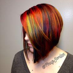 I love making mermaid hair! Come follow me for more fun color @PinupJordan on Instagram!