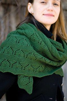 Green Mountain Shawl by Veronik Avery #knit