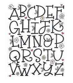 Happy almost Friday! Here's my serif alphabet for and Hand Lettering Alphabet, Doodle Lettering, Creative Lettering, Lettering Styles, Calligraphy Letters, Brush Lettering, Alphabet Fonts, Alphabet Letters, Handlettering Abc