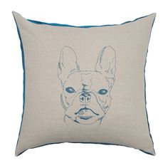 2014 Collection : Teal is ALWAYS on trend in Joue's minds. This version of their Bulldog will brighten up any room or space with that slight splash of color. #luxurycushion #throwpillow www.jouedesign.com