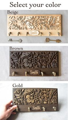 Last Family Name Established Sign Laser Cut Name Wooden Sign Key Holder For Wall Key Rack Hook Entryway Wall Organizer Roommate Gift Decor – Home Design Laser Cutter Ideas, Laser Cutter Projects, Laser Cut Wood, Laser Cutting, Wood Laser Engraving, Laser Cut Signs, Family Name Established, Articles En Bois, Wall Key Holder