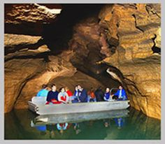 Bedford, IN- Bluespring Caverns.  Tour guides pilot custom tour boats along the course of a subterranean river for over a mile, pointing out native rare blind fish and crayfish in their natural setting.