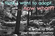 Adding a Burden: I think I want to adopt… now what? Eight places to start exploring.