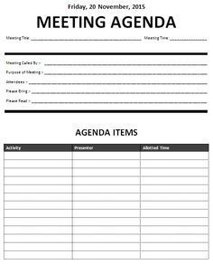 meeting agendas templates   Meeting Agenda Template ...