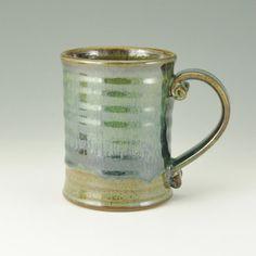 MUG  Handmade Coffee Mug Pottery Beer Mug 16 by TwistedRiverClay, $26.00