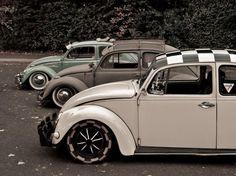 Checker roof VW beetle