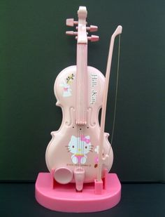 Three of my favorite things. Pink, Hello Kitty, and the violin. Sanrio Hello Kitty, Hello Kitty Haus, Hello Kitty Gifts, Hello Kitty Rooms, Hello Hello, Hello Kitty Things, Hello Kitty Zimmer, Wonderful Day, Miss Kitty