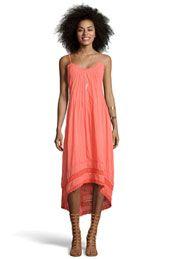 Boutique Lucinda Dip Back Crochet Trim Midi Dress