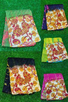 Buy Pure lehariya georgette sarees with blouse 8897195985 | siri designers Georgette Fabric, Georgette Sarees, Silk Sarees, Kalamkari Designs, Picnic Blanket, Outdoor Blanket, Silk Saree Blouse Designs, Designer Blouse Patterns, Siri