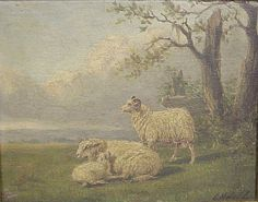Antique painting on wooden panel of sheep Primitive Sheep, Primitive Country, Best Sister Ever, Sheep Art, Old Frames, Antique Paint, Old Paintings, Different Light, Pretty Pictures