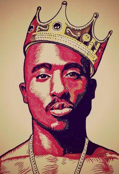Tupac Shakur Art The King of Rap Respect Arte Do Hip Hop, Hip Hop Art, Tupac Shakur, Tupac Wallpaper, Iphone Wallpaper, Tupac Art, Images Murales, Rapper Art, Dope Art