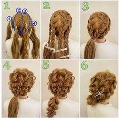 Peinados con trenzas vídeos paso por paso ~ Belleza y Peinados