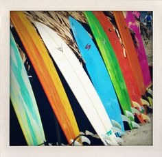 Surfboards at Sayulita