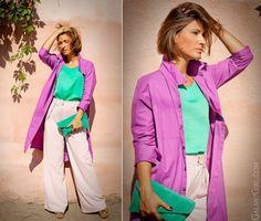 Color Block! Разноцветие!  (by Galant-Girl Ellena)        FOR MORE HEAD TO BLOG POST:   http://galantgirl.com/color-block-summer-outfit-2/     #GalantGirl #ColorBlock #ColorBlockOutfit #wideLegTrousers #RiverIsland #Prada