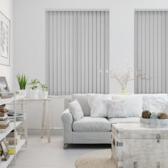 Valencia Grey Vertical Blind from Blinds 2go