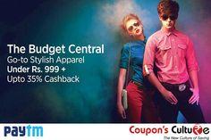 Go-to Stylish #Apparel Under 999 + Upto 35% #Cashback. #Shop Now