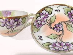 Hand Painted Japanese Tea Cup Hand Painted Cups Tea Set