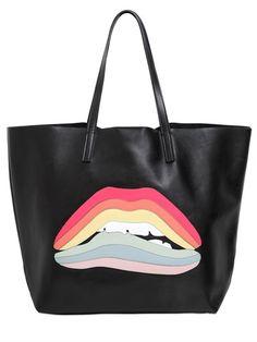 RAINBOW LIPS PATCH LEATHER TOP HANDLE Rainbow Lips bdccfebc997f0