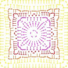 Summer Cal - Gold motif chart on the LoveCrochet blog