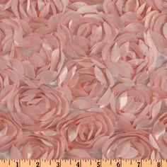 Loveable Satin Ribbon Rosette Pink
