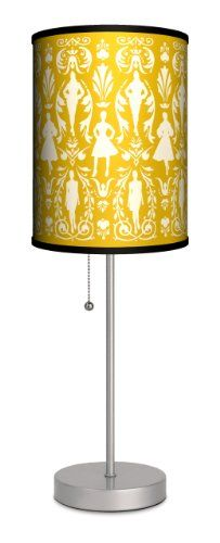"Featured Artists - Jules Davis ""Runway Damask"" Sport Silver Lamp - Amazon.com"