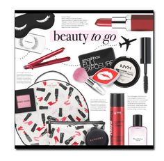 """""""#554 - Beauty on the Go"""" by lilmissmegan ❤ liked on Polyvore featuring beauty, Kate Spade, Clinique, MAC Cosmetics, Bobbi Brown Cosmetics, Smashbox, NYX, Sephora Collection, BaByliss and Victoria's Secret"""