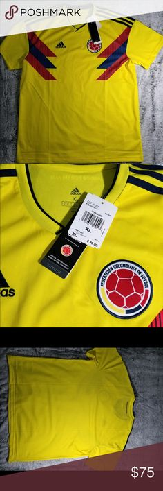 31eff2737521d Adidas Colombia Soccer Jersey New With Tags Ships Promptly adidas Shirts  Tees - Short Sleeve Camiseta