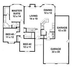 Daylight Basement Plan (HWBDO67023) | Traditional House Plan from BuilderHousePlans.com