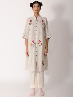 Beautiful cotton-khadi kurti with superb motives