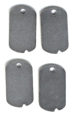 Dog Tag Style Blank, Silverware Plated, Item08163  http://www.etsy.com/listing/100000637/dog-tag-style-blank-silverware-plated#