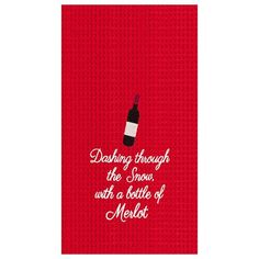 Looking to bring a little wine-themed Christmas cheer to your kitchen this holiday season? Then you need wine-themed Christmas kitchen towels like these! Christmas Table Linen, Christmas Kitchen Towels, Holiday Mood, Holiday Themes, Unique Gifts For Men, Cool Gifts, Dashing Through The Snow, Wine Decor, Dining Table In Kitchen