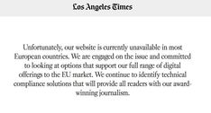 GDPR claims its first victims: U.S. newspapers