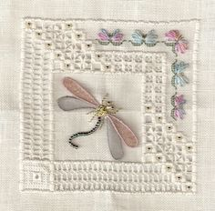 Hardanger Dragonfly | VS Dragonfly Lace Sampler - stitchin fingers