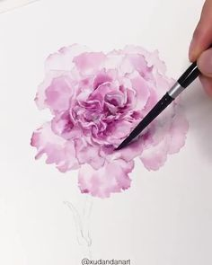 Stunning Artwork🌸 Also, check out Nil-Tech Pencil set by clicking THE WEBSITE LINK By 💫 What a masterpiece!🌺 Comment if you agre. Watercolor Video, Watercolor Painting Techniques, Watercolour Tutorials, Watercolor Drawing, Watercolor Illustration, Watercolor Flowers, Watercolor Paintings, Painting Videos, Watercolor Pencils