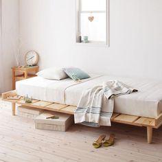 《セミダブル》ヘルテ【Helte】北欧デザイン天然木すのこベッド