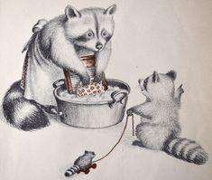 Great Books for Children: The Art of Garth Williams   -  Wait Till the Moon is Full illustration.