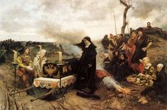 Doña Juana la Loca, Reina de Castilla, carrying the corpse of her dead husband south across Spain. #madqueensgame