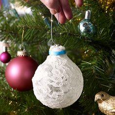 Pretty lace ornaments #DIY