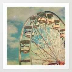 Ferris wheel 1 Art Print by Sylvia Cook Photography - $19.00