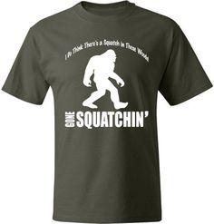 BIGFOOT Gone Squatchin Tshirt Soft Ringspun by ApparelUnited, $11.95