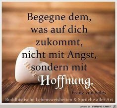 ein Bild für's Herz 'Begegne dem was auf Dich. True Words, Positive Thoughts, Cool Words, Quotes To Live By, Best Quotes, Quotations, Inspirational Quotes, Wisdom, Positivity