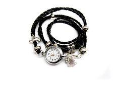 Wickeluhr, Armbanduhr, Wickelarmband , von HANDMADE auf DaWanda.com