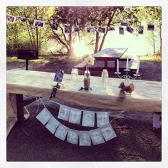 Outdoor rustic wedding head table by YVA Ca
