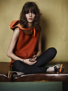 Freja for Vogue UK 2010