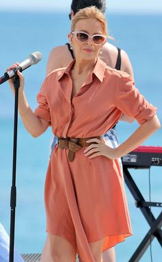 Kylie Minogue performing for Le Grand Journal at Cannes 2014