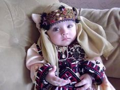 Adorable Baloch Baby Girl in traditional Attire - that's just too cute❤