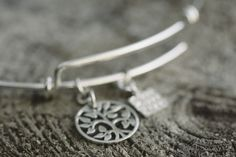 Fabulous tree of life charm bangle bracelets