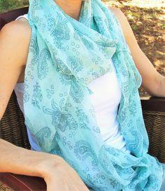 Fular de seda y algodón - 7,35€ -CMK One Shoulder, Blouse, Tops, Women, Fashion, Silk, Ponchos, Moda, Fashion Styles